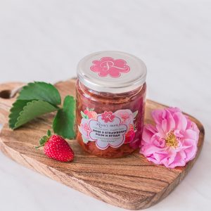 Rose and strawberry jam