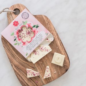 White chocolate and roses