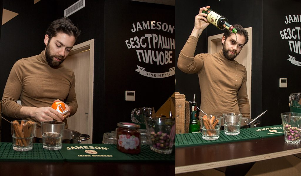 Hot cocktails for brave people from Jameson and Rosey's mark