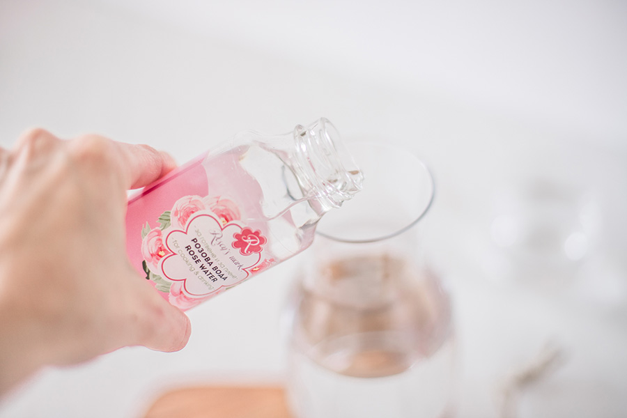 Rose water for cooking and drinking