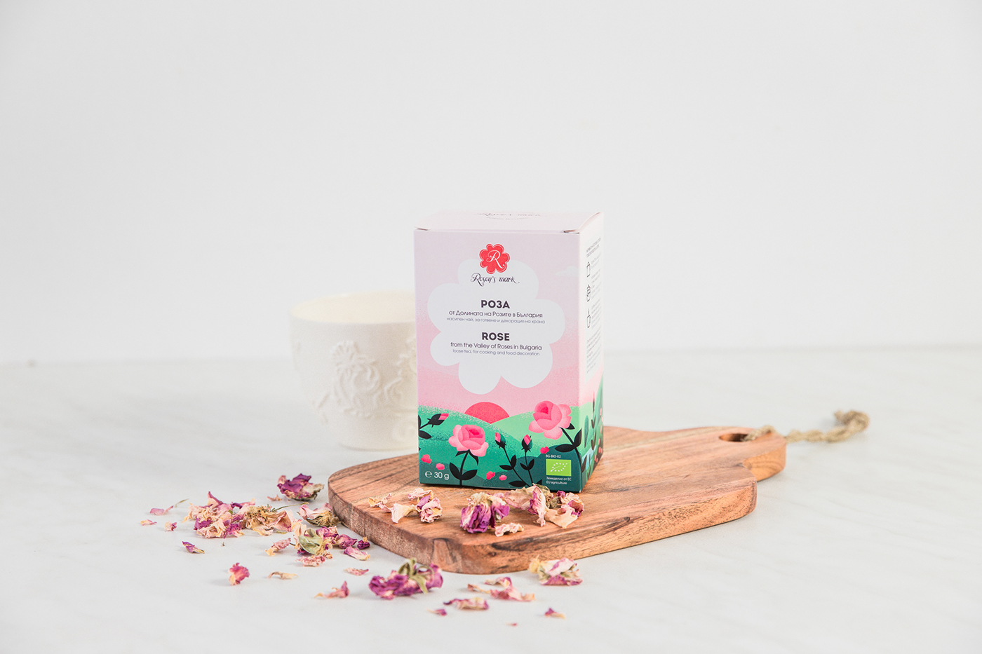 New look for the rose tea