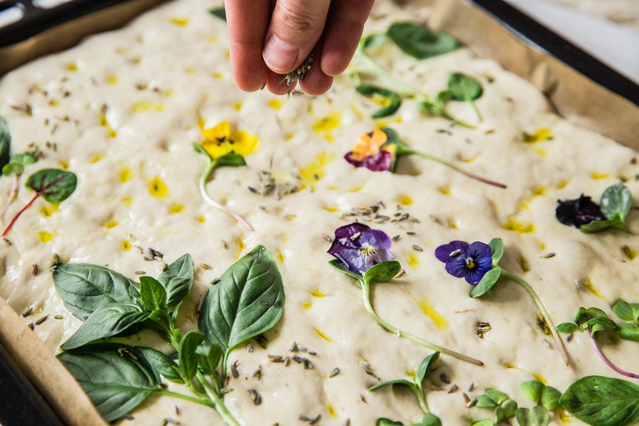 lavender focaccia recipe
