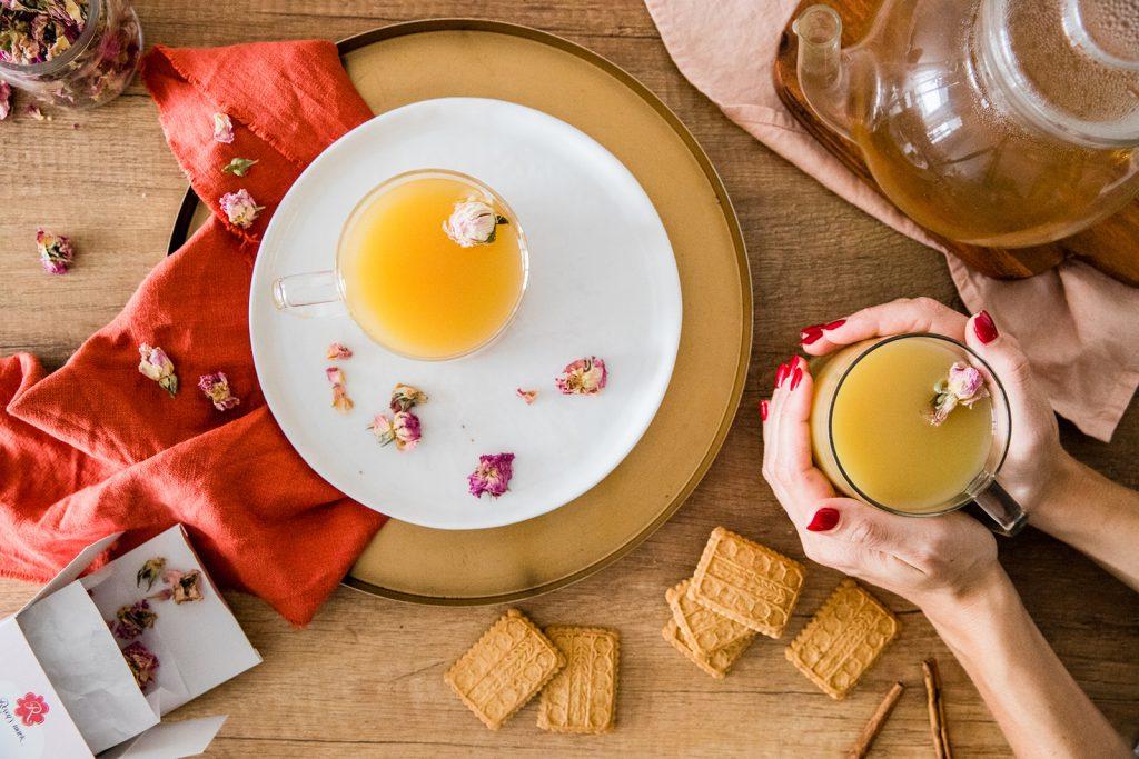 Masala chai with rose recipe
