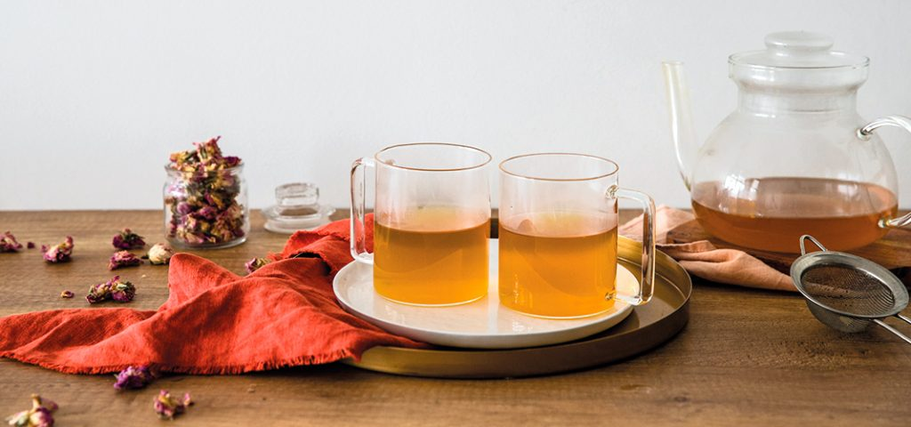 Masala chai with rose