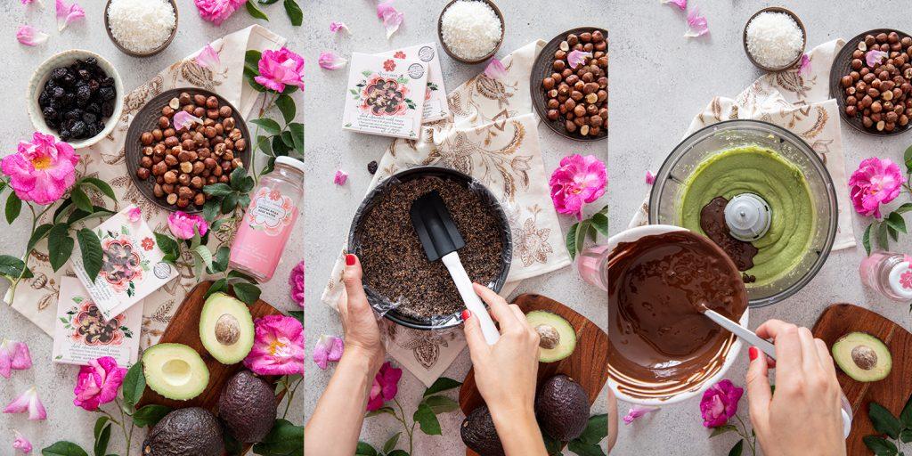Сурова шоколадова торта с рози