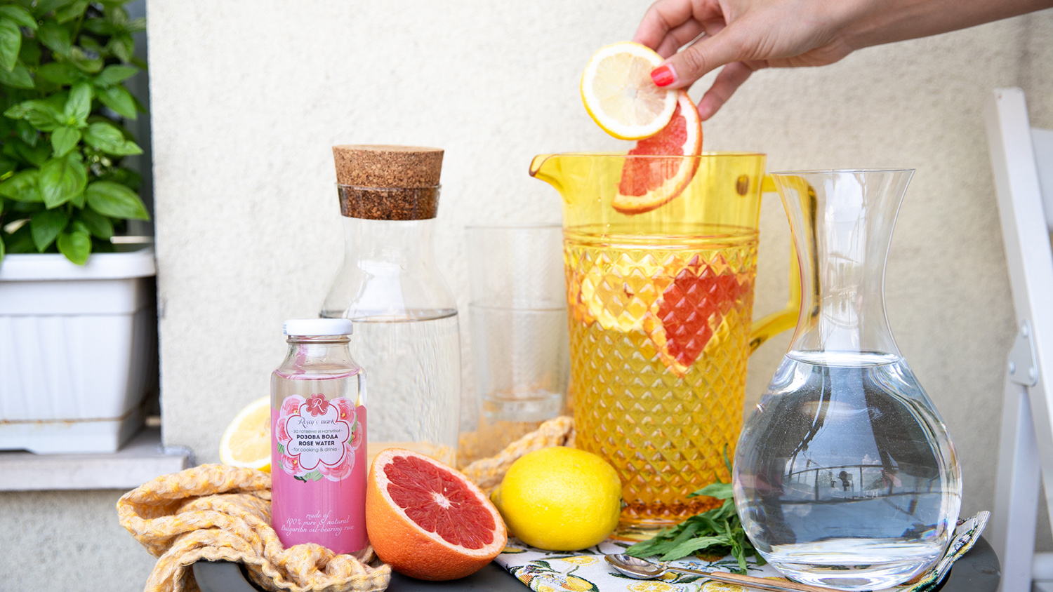 Flavoured rose water - 3 home recipes