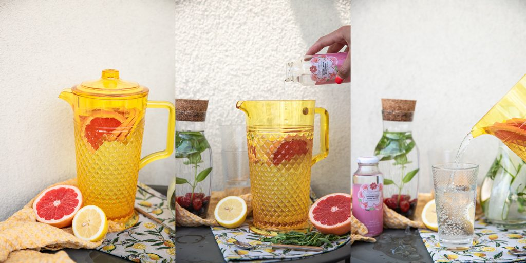 Flavoured water with rose water