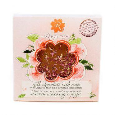 Млечен шоколад с рози