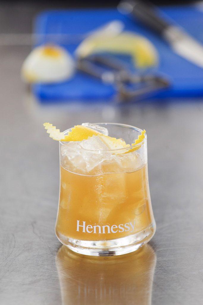 Rose&Strawberry Hennessy Fine de Cognac Sour