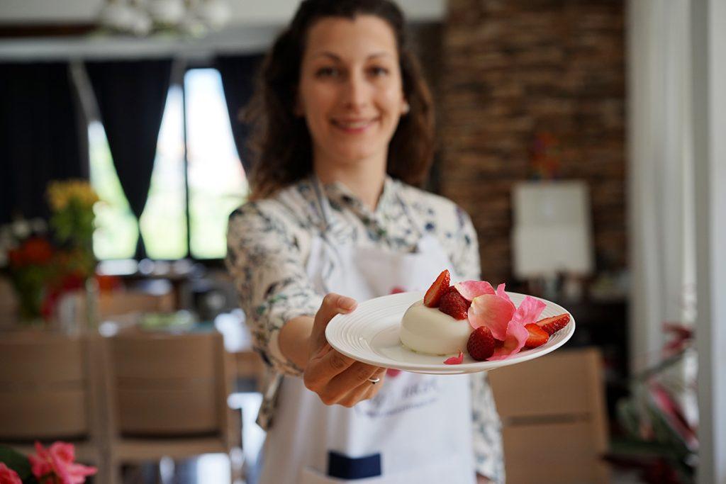 pannacotta with roses recipe