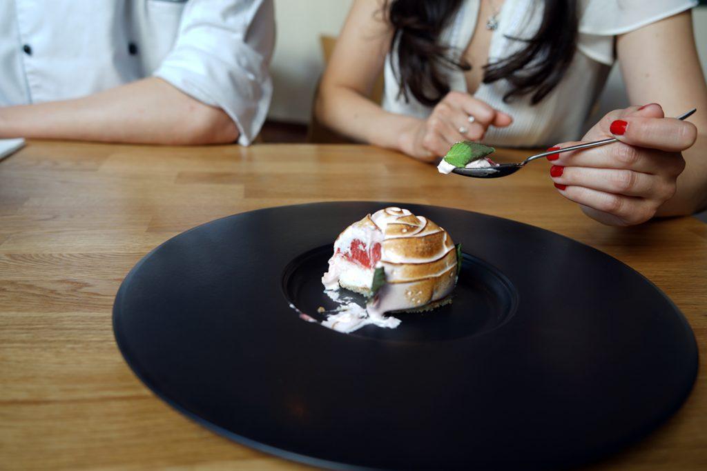 Bulgarian rose-dessert Cosmos restaurant