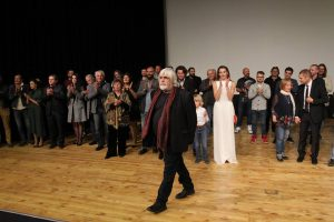 Damascena movie-team on stage